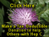 Click to Donate To Triumph Over Hepatitis C nonprofit fund for sponsoring alternatives to hepatitis c sufferers